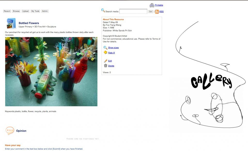 BLITX! - community-driven resource portal for art students (2009)