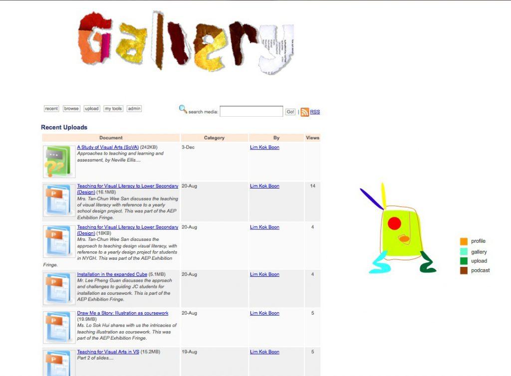 ARTDR - community-driven resource portal for art teachers (2009)